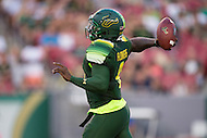 Tampa, FL - September 4th, 2016: South Florida Bulls quarterback Asiantii Woulard (4) in action during game against Towson at Raymond James Stadium in Tampa, FL.  (Photo by Phil Peters/Media Images International)