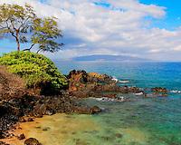 View from Wailea beach, Maui, Hawaii.