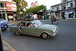Buenos Aires, Argentina - A loaded Ford Falcon drives on the streets of the tigre section of Buenos Aires