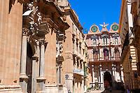 Baroque Chiesa del Collegio and the Baroque Palazzo Senatorio, Trapani, Sicily