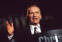 Washington, DC 12 Sept 1996- Ross Perot (born June 27, 1930) speaking at the Christian Coalition Road to Victory annual meeting.
