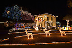 Eastridge Neighborhood Chirstmas display, El Paso, Texas.