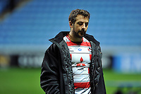 Greig Laidlaw of Gloucester Rugby looks dejected after the match. Aviva Premiership match, between Wasps and Gloucester Rugby on November 8, 2015 at the Ricoh Arena in Coventry, England. Photo by: Patrick Khachfe / Onside Images