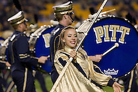 The Pitt marching band. The Pitt Panthers defeated the USF Bulls 44-17 on September 29, 2011 at Heinz Field in Pittsburgh Pennsylvania.