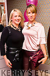 Mags O'Halloran (Ballyheigue) and Aine Wall (Derrymore), enjoying the Think Pink Fashion Fundraiser held at Benners Hotel, Tralee on Thursday night, October 27th last.