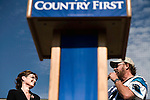 October 16, 2008. Elon, North Carolina..  As the presidential race in North Carolina tightens, Republican Vice presidential candidate, Governor Sarah Palin,  spoke at Elon University to a crowd of thousands of supporters.. Hank Williams Jr. introduced the candidate.
