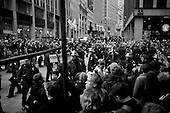 New York, New York<br /> November 17, 2011<br /> <br /> &quot;Occupy Wall Street&quot; protesters mark the movement's two-month milestone by marching from Zuccotti Park, in mass, to various access streets surrounding the New York Stock Exchange, which the police had barricaded off. Yet instead of the police keeping protesters out, protesters locked down those entrances to Wall Street and the New York Stock Exchange creating havoc as the police made more then 240 arrests to try and keep the streets open to normal traffic.<br /> <br /> At Broad Street and Exchange Place, just two blocks from the NYSE, Police try and contain a crowd of anti-Wall Street demonstrators from disrupting business as usual in the financial district. Dozens of arrests are made as protesters do battle with police.