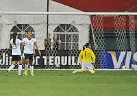 Sydney Leroux (2) of the USWNT celebrates her score with teammate Erika Tymrak (23) The USWNT defeated Mexico 7-0 during an international friendly, at RFK Stadium, Tuesday September 3, 2013.