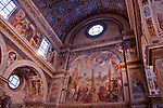 Nun's Choir, in the Santa Giulia Museum Complex, with frescos from the 15th and 16th centuries in Brescia, Italy