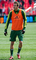 26 March 2011: Portland Timbers defender Eric Brunner #5 in action during the warm-up in an MLS game between the Portland Timbers and the Toronto FC at BMO Field in Toronto, Ontario Canada..Toronto FC won 2-0....
