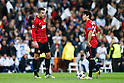 Robin van Persie, Shinji Kagawa (Man.U), FEBRUARY 13, 2013 - Football / Soccer : UEFA Champions League Round of 16, 1st leg match between Real Madrid 1-1 Manchester United at Estadio Santiago Bernabeu in Madrid, Spain. (Photo by D.Nakashima/AFLO)