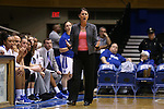 17 December 2015: Duke head coach Joanne P. McCallie. The Duke University Blue Devils hosted the Liberty University Flames at Cameron Indoor Stadium in Durham, North Carolina in a 2015-16 NCAA Division I Women's Basketball game. Duke won the game 79-41.