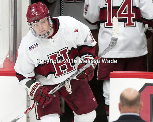 second star - Sean Malone (Harvard - 17) - The Harvard University Crimson defeated the visiting Boston College Eagles 5-2 on Friday, November 18, 2016, at the Bright-Landry Hockey Center in Boston, Massachusetts.