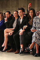 Louis Tomlinson and girlfriend Eleanor Calder at the Unique show as part of London Fashion Week AW13, Tate Modern, London. 17/02/2013 Picture by: Henry Harris / Featureflash