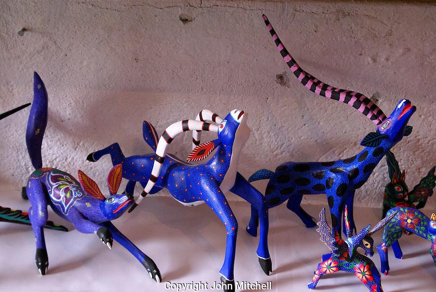 Alebrijes from Oaxaca for sale in San Miguel de Allende, Mexico