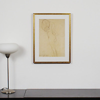 "Klimt: ""Study Of Female Nude"", Digital Print, Image Dims. 17.5"" x 12"", Framed Dims. 23"" x 17.25"""