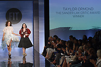 Graduating student Taylor Ormond, won the Sander Lak Critic Award, during the Future of Fashion 2017 runway show at the Fashion Institute of Technology on May 8, 2017.