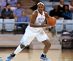 02 January 2014: North Carolina's Xylina McDaniel. The University of North Carolina Tar Heels played the James Madison University Dukes in an NCAA Division I women's basketball game at Carmichael Arena in Chapel Hill, North Carolina.