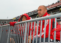 Toronto FC Academy U-18 senior team head coach and former player Danny Dichio was on hand with his son to watch an MLS game between Sporting Kansas City and the Toronto FC at BMO Field in Toronto on June 4, 2011..The game ended in a 0-0 draw...