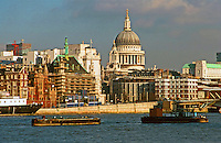London:  Thameside Walk #10.  St. Paul's--zoom.  Photo '90.