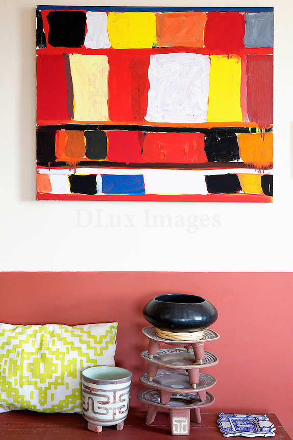 colored ethnic painting
