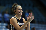 04 November 2015: Wingate's Shelby Tricoli. The University of North Carolina Tar Heels hosted the Wingate University Bulldogs at Carmichael Arena in Chapel Hill, North Carolina in a 2015-16 NCAA Women's Basketball exhibition game. UNC won the game 86-84.