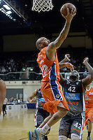 Kevin Braswell in action during the NBL Final Four - Hawks v Sharks at TSB Bank Arena, Wellington, New Zealand on Friday 4 July 2014. <br /> Photo by Masanori Udagawa. <br /> www.photowellington.photoshelter.com.