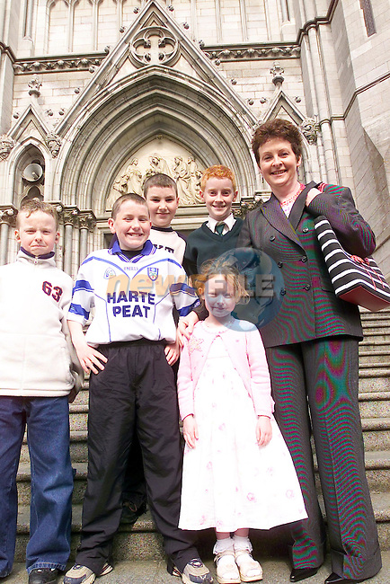 Therese,Edward,Gearaid,Stephen Jones and Addian,Amy McCluskey at Confirmation in St Peters Church...Picture Newsfile...This Picture is sent to you by:..Newsfile Ltd.The View, Millmount Abbey, Drogheda, Co Louth, Ireland..Tel: +353419871240.Fax: +353419871260.GSM: +353862500958.ISDN: +353419871010.email: pictures@newsfile.ie.www.newsfile.ie