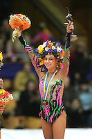 Natalya Godunko of Ukraine wins the All-Around competition at 2006 Deriugina Cup Grand Prix in Kiev, Ukraine on March 18, 2006. (Photo by Tom Theobald)
