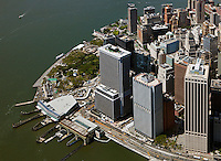 aerial photograph Whitehall Terminal South Ferry, Battery Maritime Building, New York Plaza, Lower Manhattan, New York City