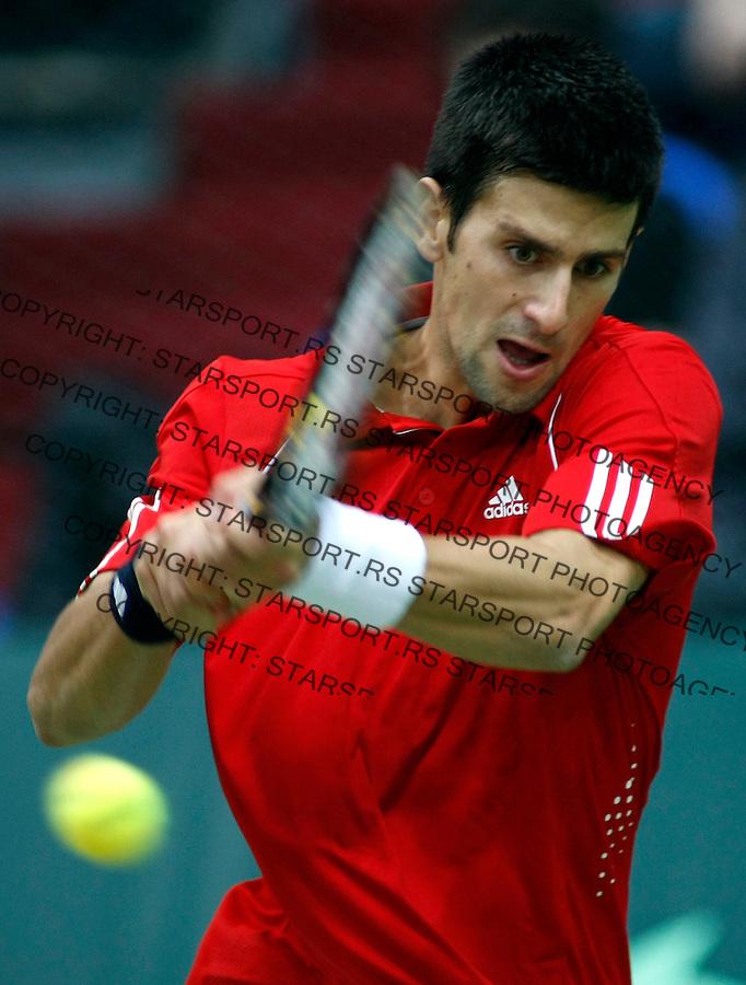 Tenis, Davis Cup, 1/8 round.Russia Vs. Serbia, .Novak Djokovic Vs. Nikolay Davydenko.Moskva, 02.10.2008..foto: Srdjan Stevanovic