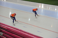 SPEED SKATING: HAMAR: Vikingskipet, 04-03-2017, ISU World Championship Allround, 5000m Men, Jan Blokhuijsen (NED), Patrick Roest (NED), ©photo Martin de Jong