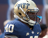 Pittsburgh linebacker Dan Mason. The Pittsburgh Panthers defeated the Youngstown State Penguins 38-3 at Heinz Field on September 5, 2009.