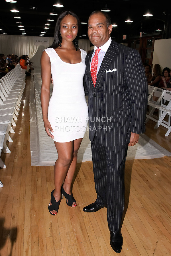 Osas Ighodaro - Miss Black USA 2010, attends the b michael AMERICA Couture Spring 2012 runway show, during Mercedes-Benz Fashion Week Spring 2012; Septeber 24 2011.