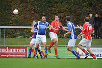 VOETBAL: KOUDUM: 24-10-2015, Oeverzwaluwen-Mulier, uitslag 0-0, Erwin Boersma (#32),  Gert Jan Meekma (#9), ©foto Martin de Jong