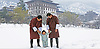01.04.2017; Thimpu, Bhutan: PRINCE JIGME WITH HIS FATHER KING WANGCHUCK <br /> and his grandfather the Fourth Druk Gyalpo enjoy some unexpected March snow.<br /> The 3 genenerations of Bhutanese Royals pose in the grounds of the Royal Palace.<br /> The young prince celebrated his first birthday on 5th February 2017.<br /> Mandatory Credit Photo: &copy;Royal Palace/NEWSPIX INTERNATIONAL<br /> <br /> (Failure to credit will incur a surcharge of 100% of reproduction fees)<br /> IMMEDIATE CONFIRMATION OF USAGE REQUIRED:<br /> Newspix International, 31 Chinnery Hill, Bishop's Stortford, ENGLAND CM23 3PS<br /> Tel:+441279 324672  ; Fax: +441279656877<br /> Mobile:  07775681153<br /> e-mail: info@newspixinternational.co.uk<br /> Please refer to usage terms. All Fees Payable To Newspix International