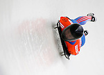 14 December 2007: Alexander Tretyakov, racing for Russia, exits the last turn and heads for the finish line at the FIBT World Cup Skeleton Competition at the Olympic Sports Complex on Mount Van Hovenberg, at Lake Placid, New York, USA. ..Mandatory Photo Credit: Ed Wolfstein Photo