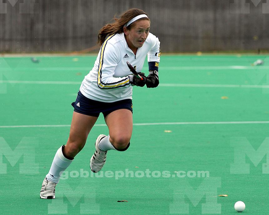 10/31/09.Phyllis Ocker Field.University of Michigan vs Indiana University Field Hockey.Indiana University Win