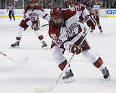 Colin Blackwell (Harvard - 63) - The Boston College Eagles defeated the Harvard University Crimson 4-1 in the opening round of the 2013 Beanpot tournament on Monday, February 4, 2013, at TD Garden in Boston, Massachusetts.