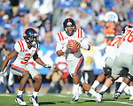 Ole Miss quarterback Randall Mackey (1) vs. Kentucky at Commonwealth Stadium in Lexington, Ky. on Saturday, November 5, 2011. ..