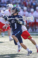 College Park, MD - March 18, 2017: Villanova Wildcats John Kluh (1) attempts a shot during game between Villanova and Maryland at  Capital One Field at Maryland Stadium in College Park, MD.  (Photo by Elliott Brown/Media Images International)