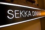 Photo shows the entrance to Sekka Dining in Hirafu in the Niseko ski region of Hokkaido, Japan on Feb. 6 2010.