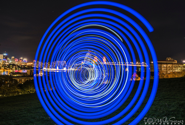 Lightpainting at Observatory Hill, Sydney, NSW, Australia