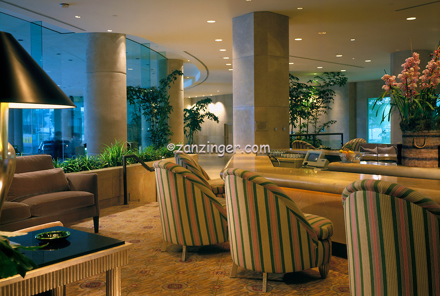 Beverly Hilton, Hotel Lounge Bar, Beverly Hills, CA interior lifestyle, decor, Contemporary