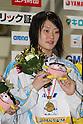 Ayano Koguchi, .FEBRUARY 11, 2012 - Swimming : .The 53rd Japan Swimming Championships (25m) .Women's 800m Freestyle Victory Ceremony .at Tatsumi International Swimming Pool, Tokyo, Japan. .(Photo by YUTAKA/AFLO SPORT) [1040]
