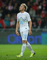 Fussball International  WM Qualifikation 2014   in Bern Schweiz - Slowenien         15.10.2013 Kevin Kampl (Slowenien) enttaeuscht