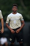 10 September 2016: Wake Forest's Jacori Hayes. The Wake Forest University Demon Deacons hosted the University of Virginia Cavaliers in a 2016 NCAA Division I Men's Soccer match. Wake Forest won the game 1-0 in sudden death overtime.