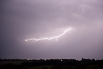 Lightening Strikes over farmland, Hoath, Nr Canterbury, KENT UK, 17th July 2014