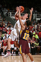STANFORD, CA - NOVEMBER 14:  Jillian Harmon of the Stanford Cardinal during Stanford's 68-55 win over the Minnesota Golden Gophers on November 14, 2008 in Stanford, California.