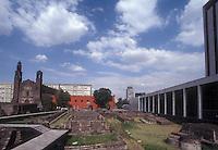 The Plaza de las Tres Culturas in Mexico City